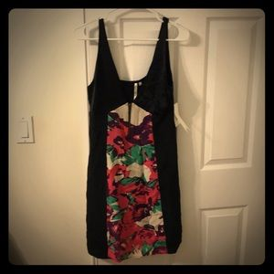 LBD, silk with floral details